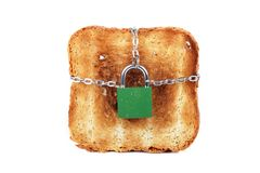 Toast and lock Stock Image