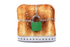 Toast lock and meter Stock Image