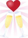 Toast of love Royalty Free Stock Photo