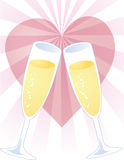Toast of love Royalty Free Stock Photography