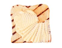Toast and margarine. Slice of toasted bread and margarine - cutout Stock Image