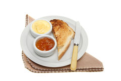 Toast and marmalade Stock Image
