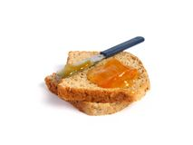 Toast with marmalade Stock Photo