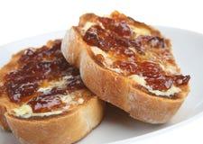Toast and Marmalade Royalty Free Stock Photos