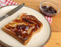 Toast & Marmalade Royalty Free Stock Photography