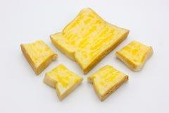 Toast mit Butter und Zucker Lizenzfreie Stockfotos