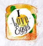 Toast mit durcheinandergemischten Eiern Stockfotografie