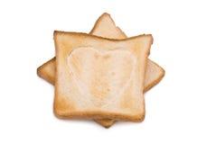 Toast mit Herz-Zeichen Stockfotos