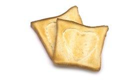 Toast mit Herz-Zeichen Lizenzfreie Stockfotos