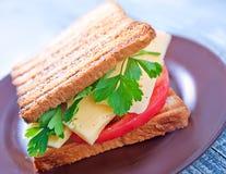 Toast mit Käse Lizenzfreie Stockfotos