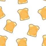 Toast mit nahtlosem Muster des Stauvektors Lizenzfreie Stockbilder