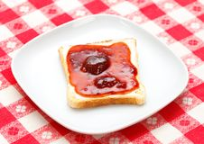 Toast mit Störung Lizenzfreie Stockfotos