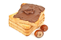 Toast with nut cream Stock Image