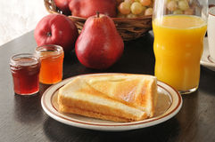 Toast and Orange Juice Stock Images