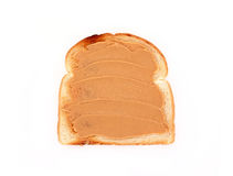 Toast with peanut butter Stock Photos
