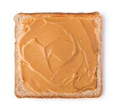 Toast with peanut butter Royalty Free Stock Image