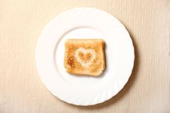 Toast on the plate Royalty Free Stock Images