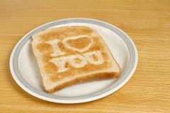 Toast on plate Stock Photography