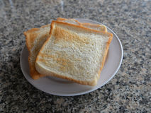 Toast on plate Royalty Free Stock Photography