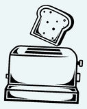 Toast popping out of a toaster Royalty Free Stock Photography
