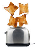 Toast popping out of a toaster Royalty Free Stock Image