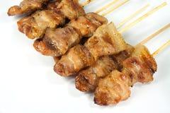Toast pork on white background Stock Image