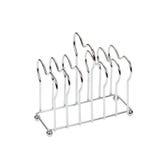 Toast rack. Metal toast rack isolated on white Royalty Free Stock Photos