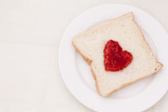 Toast with raspberry jam Royalty Free Stock Image