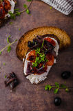 Toast with roasted vegetable Stock Photos