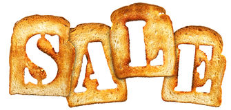 Toast sale royalty free stock image
