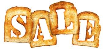 Toast sale Royalty Free Stock Image