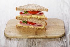 Toast sandwich with ham Royalty Free Stock Images