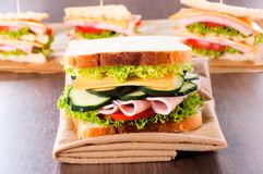 Toast sandwich Royalty Free Stock Photos