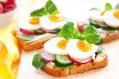 Toast sandwiches Stock Photography