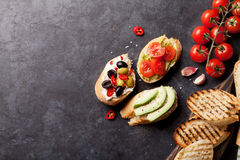 Toast sandwiches Stock Images