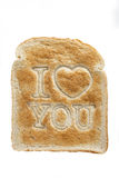 Toast saying I love you Royalty Free Stock Photos