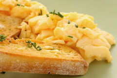 Toast And Scrambled Eggs Royalty Free Stock Photo
