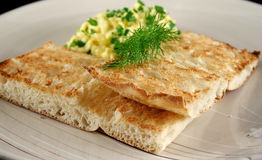 Toast And Scrambled Eggs Stock Photography