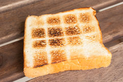 Toast a slice of bread Royalty Free Stock Images