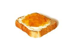 Toast spread jam Stock Photo