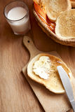 Toast spread with margarine. Snack-bread-breakfast Stock Photo