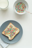 Toast with sprinkles Stock Photography
