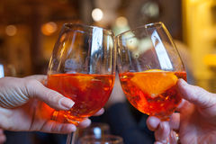 Toast with spritz Royalty Free Stock Image