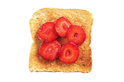 Toast with strawberries Stock Photos