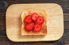 Toast with strawberries Royalty Free Stock Images