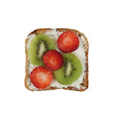 Toast with strawberry and kiwi Royalty Free Stock Image