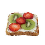 Toast with strawberry and kiwi Royalty Free Stock Photo