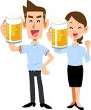 A toast of summer clothing toast with beer vector illustration