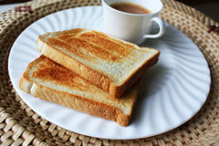 Toast and tea Stock Image