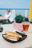 Toast at the terrace Stock Photo